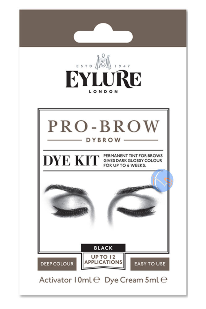 Eylure Dybrow Black Colour Tint Eyebrow Dye Kit Mascara Previously