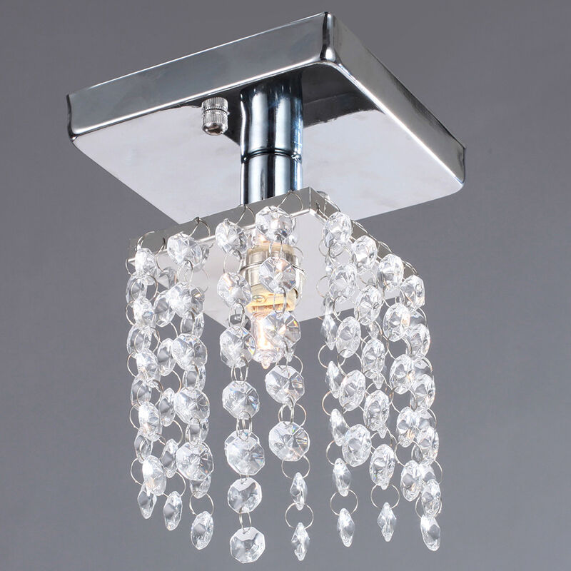Flush Ceiling Chandeliers: Mini Semi Flush Mount Crystal Chandelier Ceiling Lighting