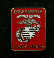 ONCE A MARINE ALWAYS A MARINE HAT PIN US MARINES USMC
