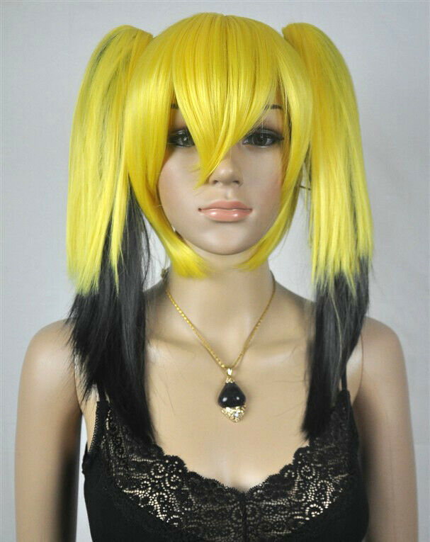 Yellow And Black Wig 68
