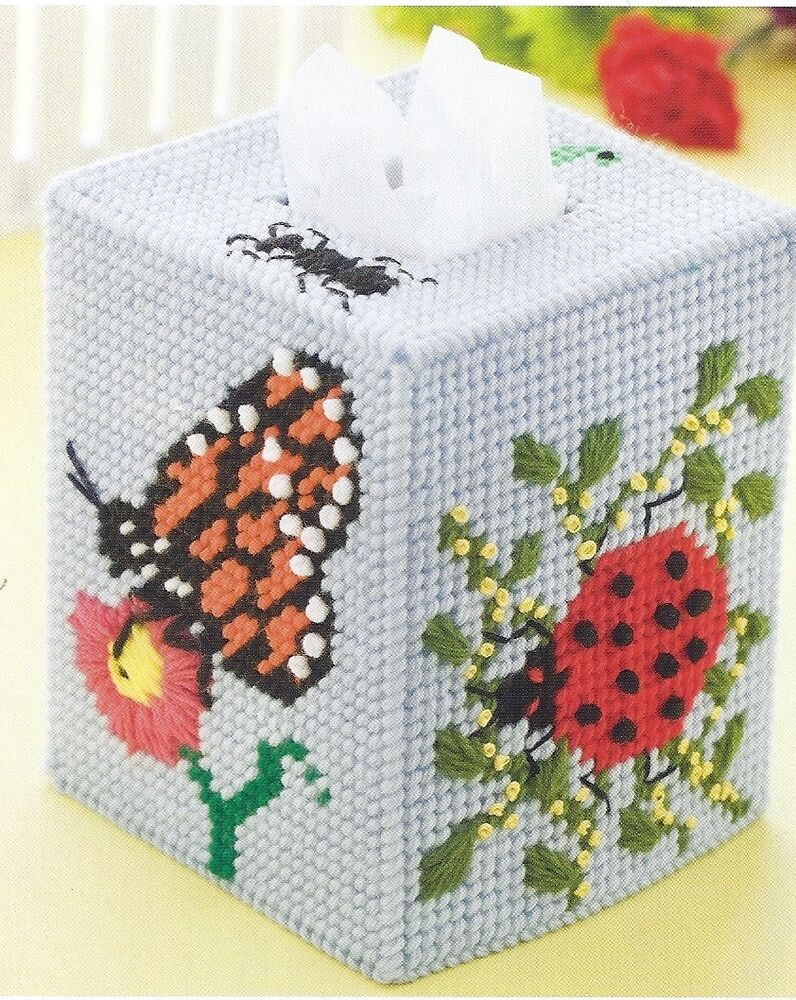 Butterflies Ladybugs Tissue Box Cover Pattern