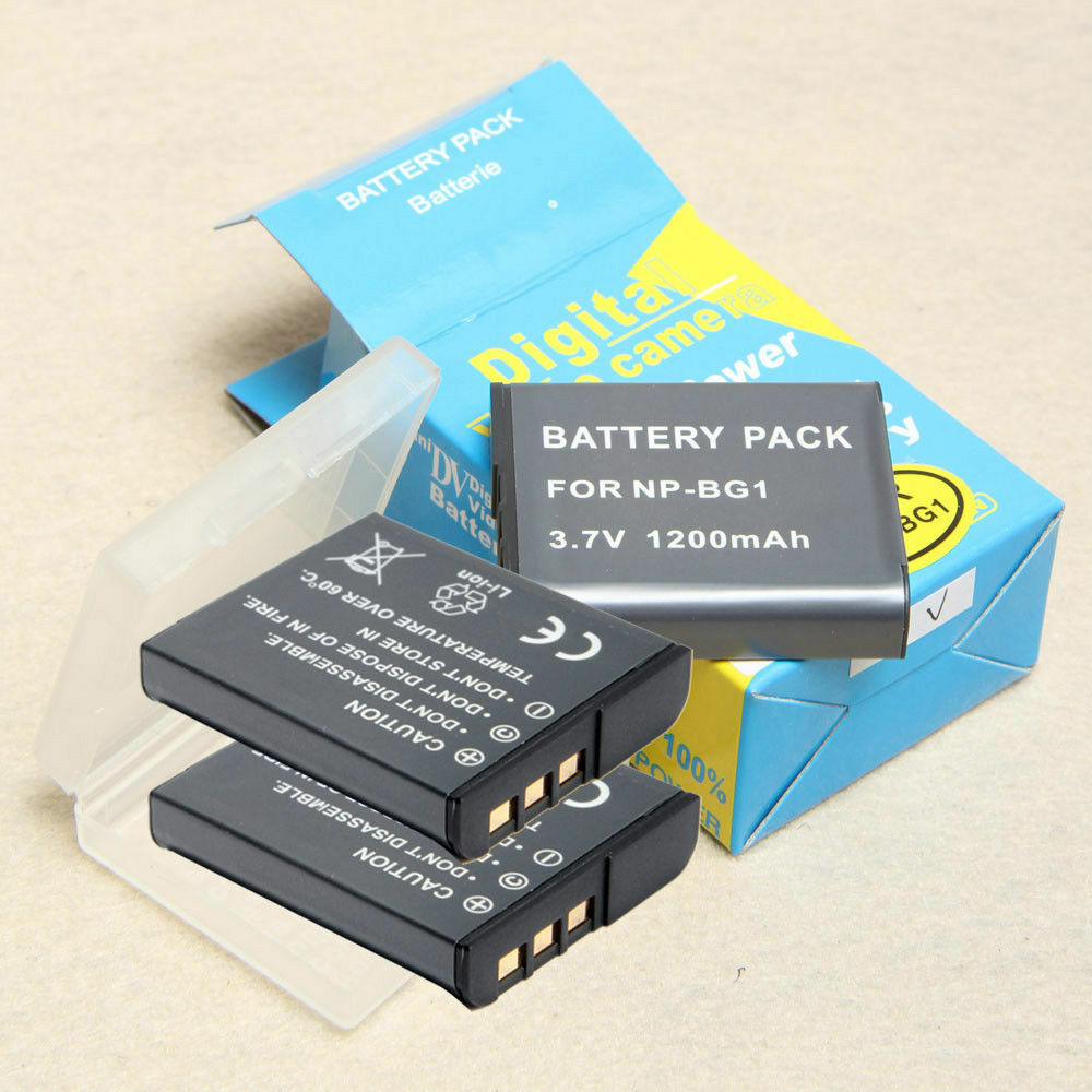 3 Lithium Ion Np Bg1 Np Fg1 Type G Camera Battery Pack For