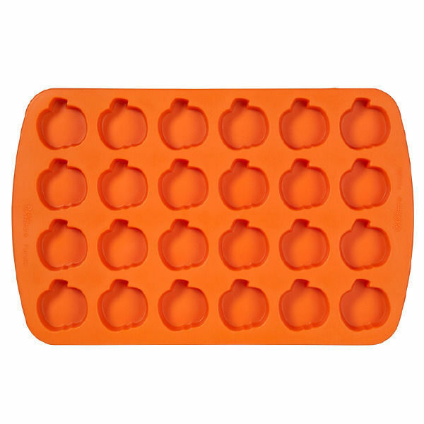 Pumpkin Bite Size Silicone Mold Pan 24 Cavities From