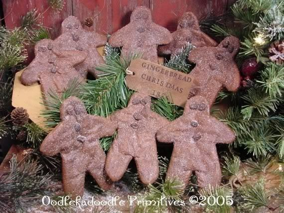 ... Gingerbread Man Christmas Bowl Filler Holiday Tree Ornies PATTERN