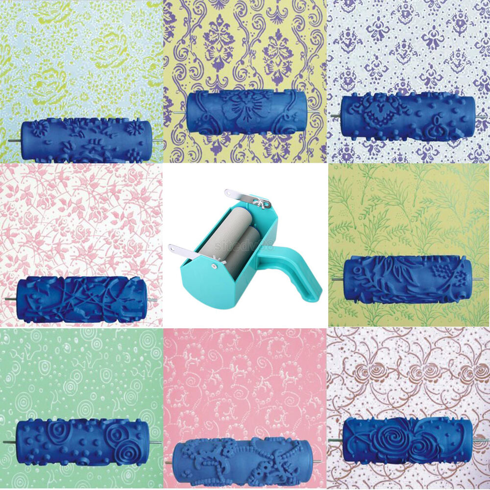 15cm Diy Empaistic Pattern Painting Roller For Home Wall Decoration Machine New Ebay