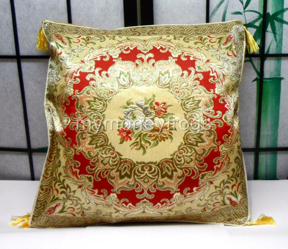 Floral throw pillow cushion cover case home bed chair sofa for Decorative bed pillow case