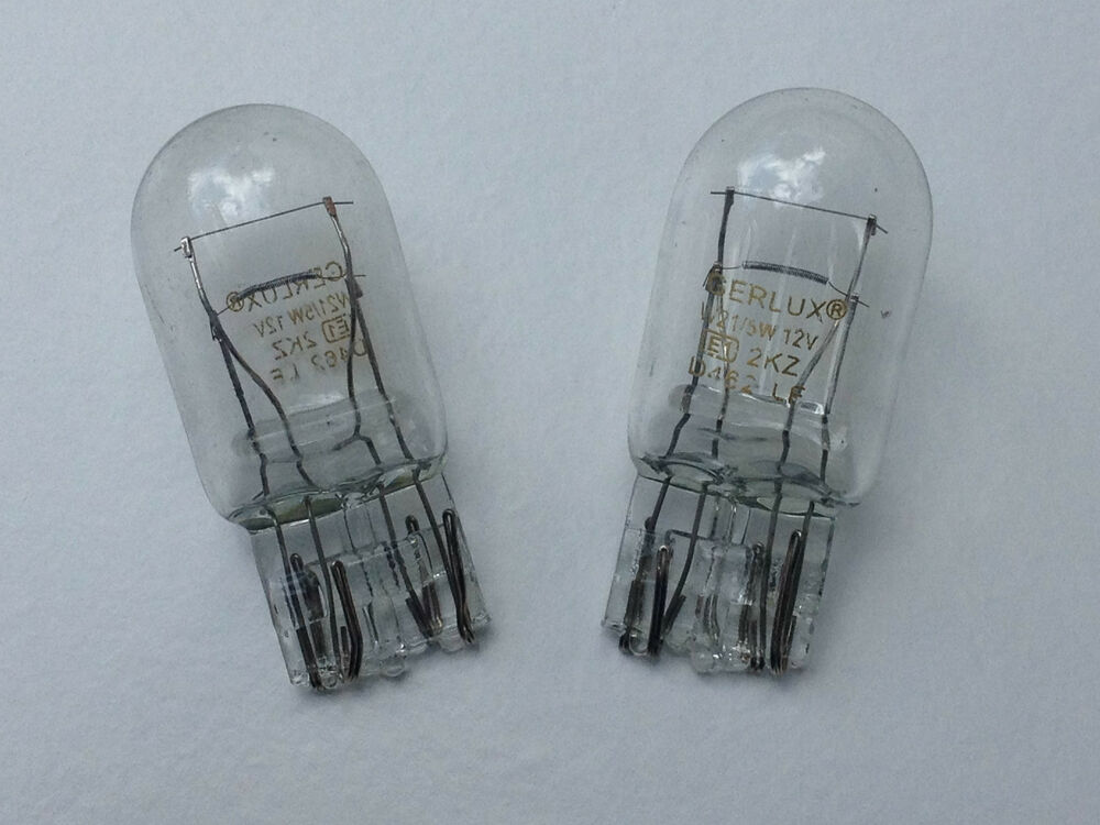 2 X 580 380w Large Capless Brake Stop Amp Tail Light Bulb 12v 21 5w Wedge Base Ebay