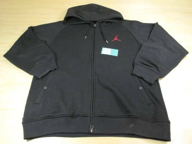 a205d059ea9e Details about NIKE AIR JORDAN FLIGHT CLUB ZIP UP SWEATER HOODIE JACKET L  BRED BLACK RED