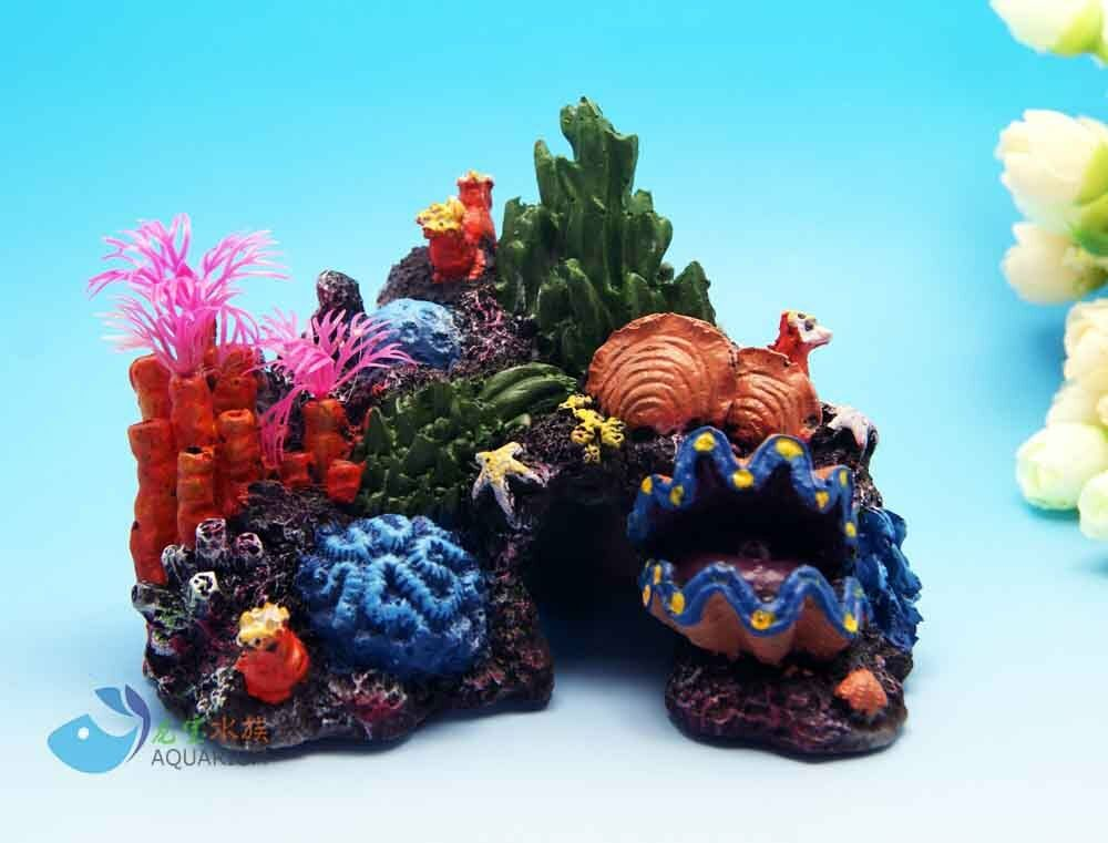 Aquarium decoration assort fake coral plant for fish tank for Aquarium coral decoration