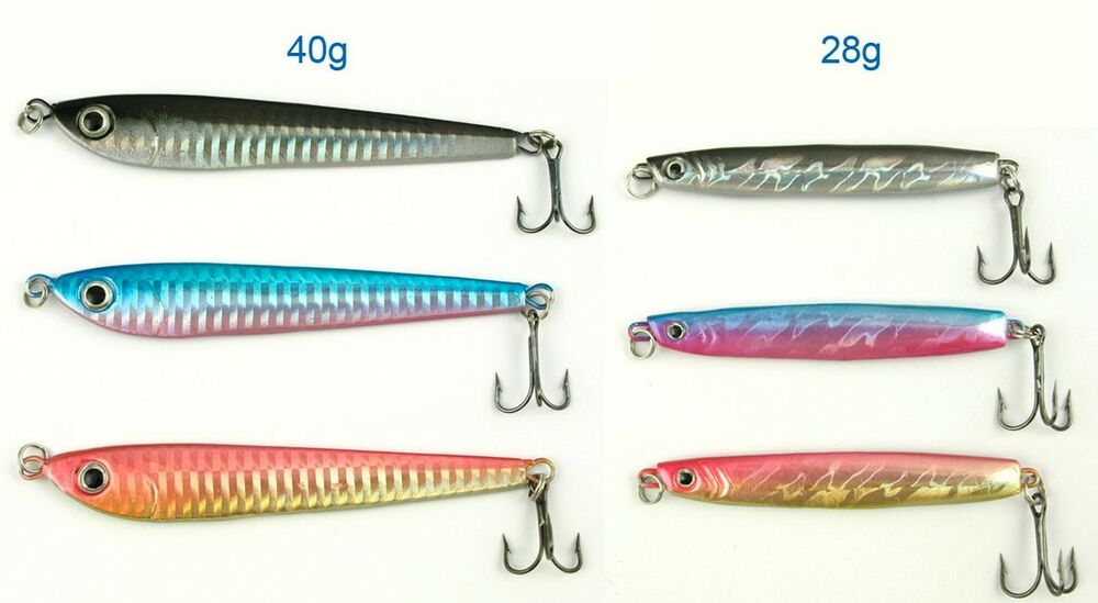 6 x premium quality lead fish salmon surf fishing lure for Best salmon fishing lures