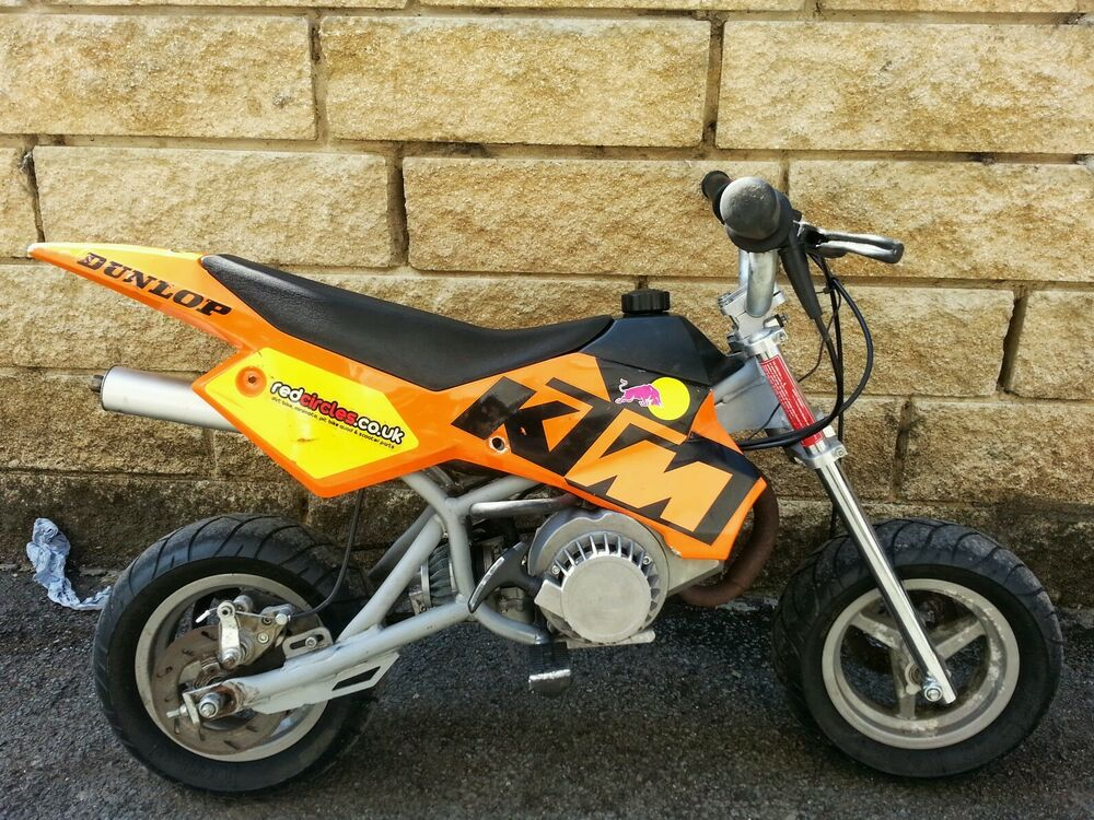 mini moto baby blata ktm dirt bike pocket bike 50cc ebay. Black Bedroom Furniture Sets. Home Design Ideas