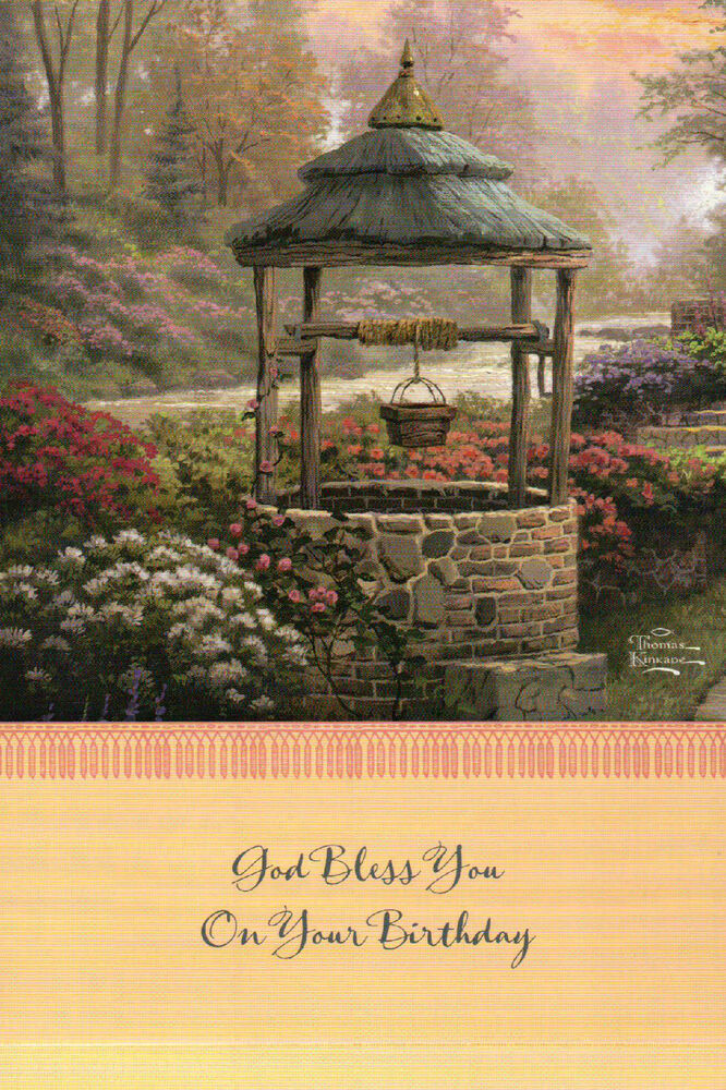 Detail From Make A Wish Cottage Thomas Kinkade Birthday Card