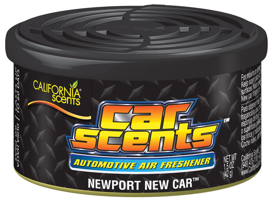 california scents car home organic air freshener freshner tin newport new car ebay. Black Bedroom Furniture Sets. Home Design Ideas