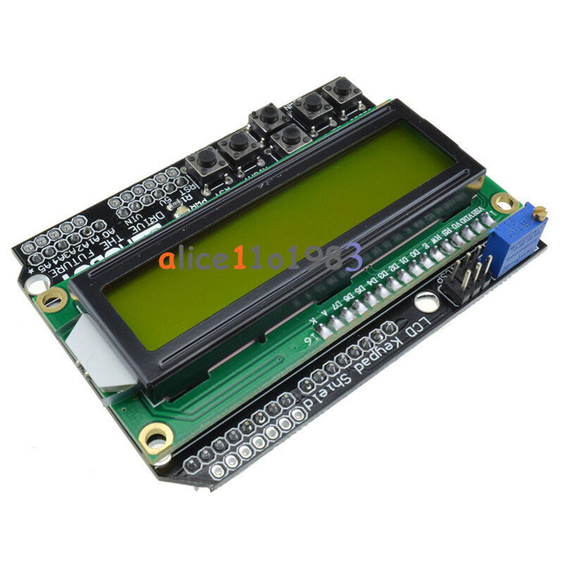 Yellow backlight lcd board keypad shield for arduino