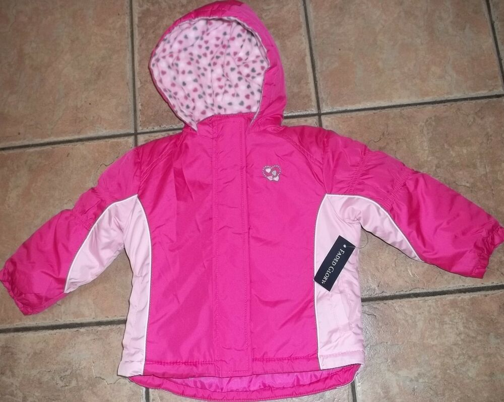 Faded Glory Pink Systems Coat 18 Or 24 Month Nwt Hooded