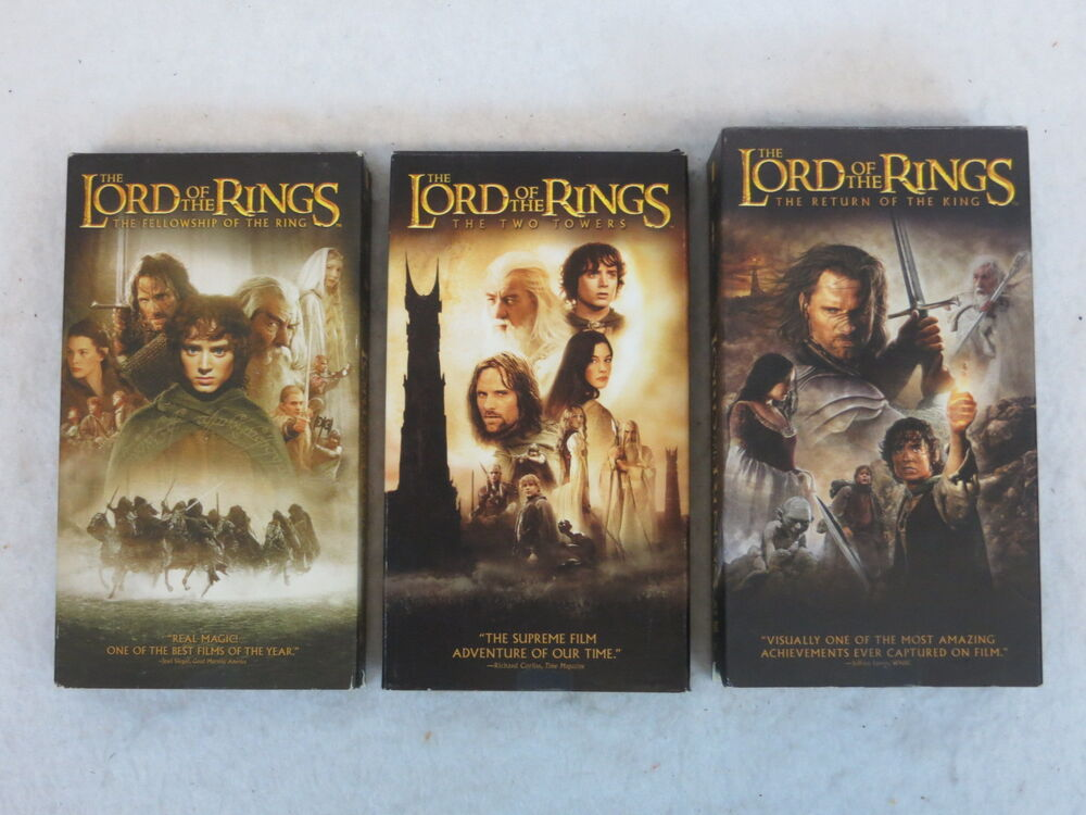 Lord Of The Rings Vhs Ebay