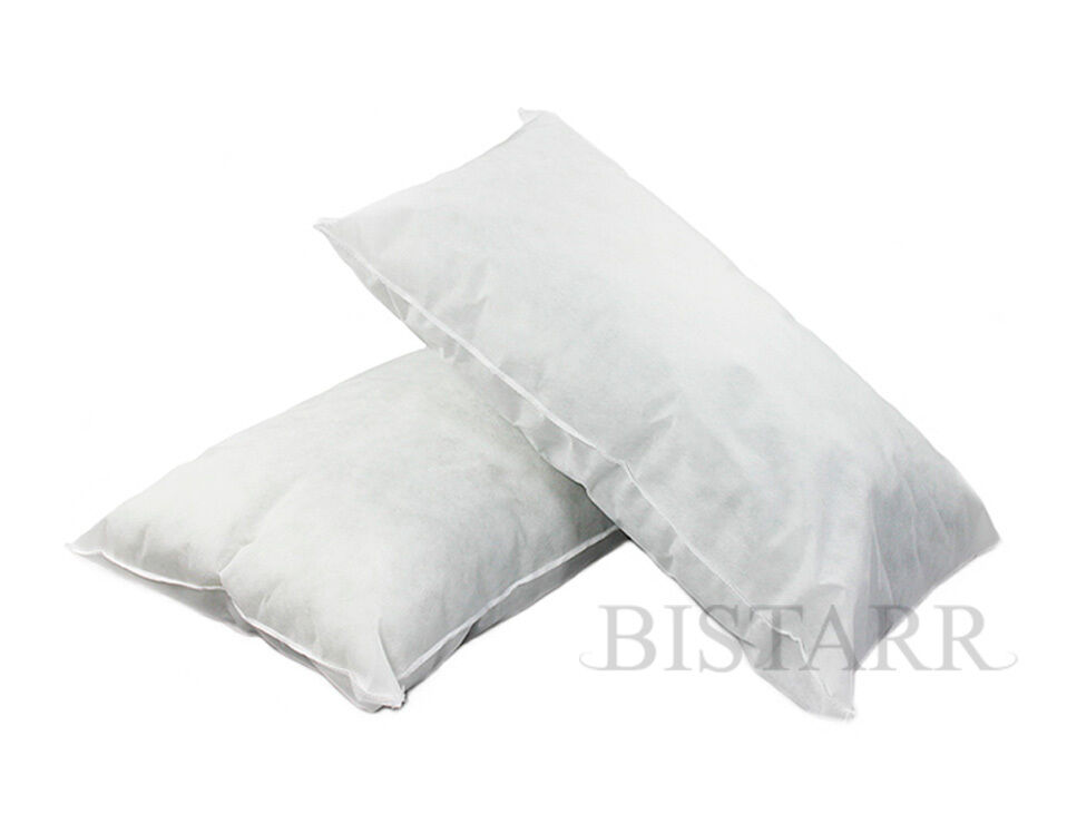 SUPER KING SIZE BED PILLOWS, POLYCOTTON HOLLOWFIBRE FILLED 20