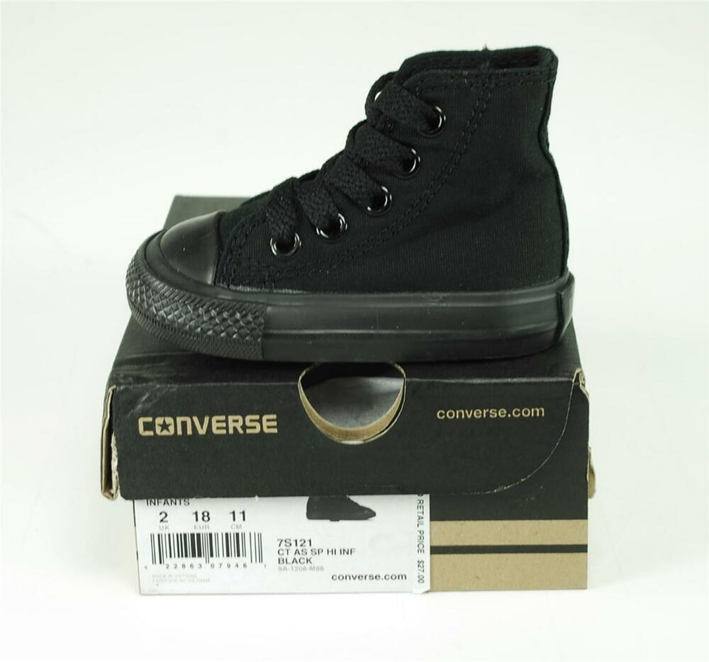 converse all hi top black canvas shoes chucks baby