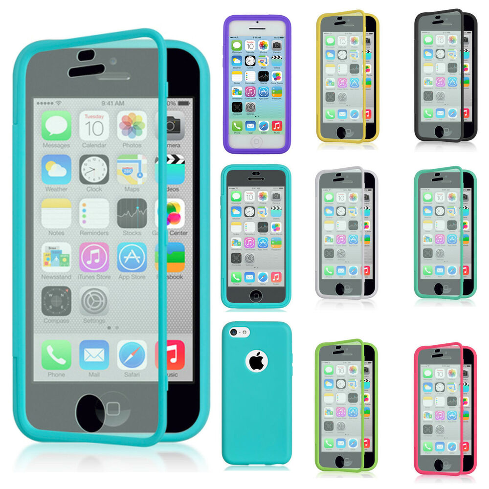 For Apple IPhone 5C TPU Wrap Up Phone Case Cover With ...