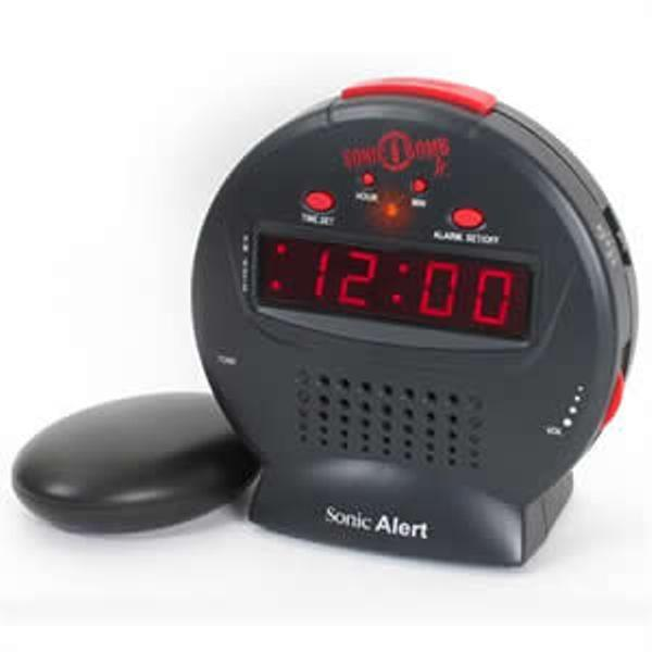 sonic bomb extra loud vibrating bed shaker alarm clock ebay. Black Bedroom Furniture Sets. Home Design Ideas