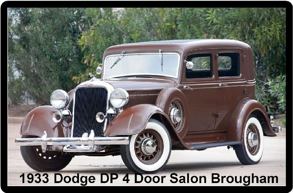 1933 dodge dp 4 door salon brougham refrigerator magnet ebay for 1933 dodge 4 door