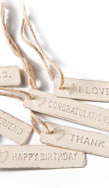 Vintage Chic Cream Metal Embossed Gift Tags Wedding Favours Fair Trade ...
