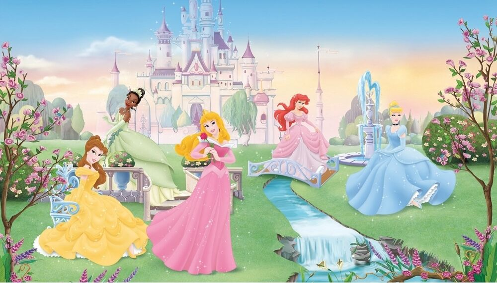 Disney dancing princess wall mural xl princesses for Disney princess castle mural
