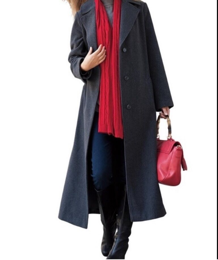 Women&039s Outerwear Winter Fall gift Wool blend long coat dress