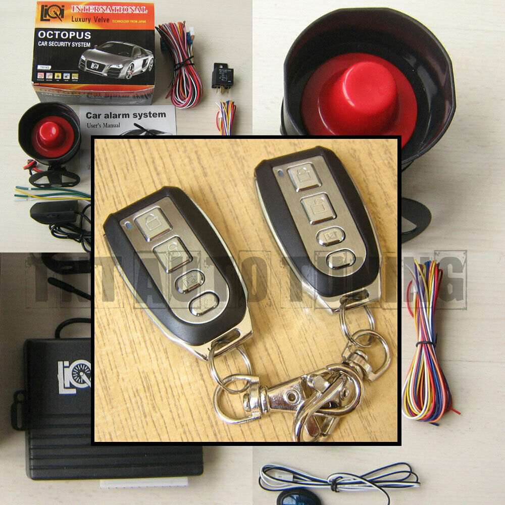 Car Alarm Security System With Siren   Remote Central