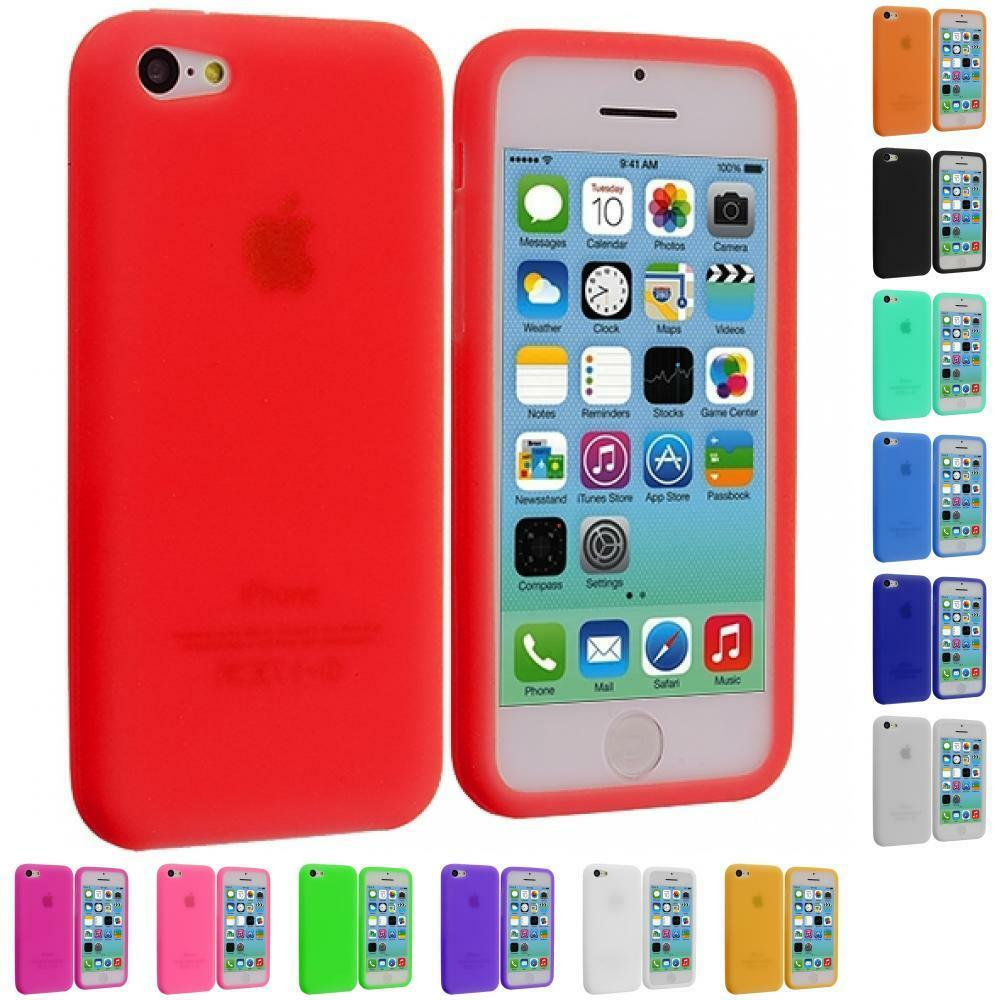 For Apple IPhone 5C Color Silicone Rubber Soft Gel Skin ...