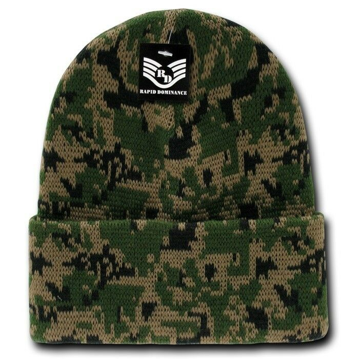 Army Woodland Knit Skull Hunting Camo Camouflage Ski Winter Beanie Hat Hats Cap Ebay