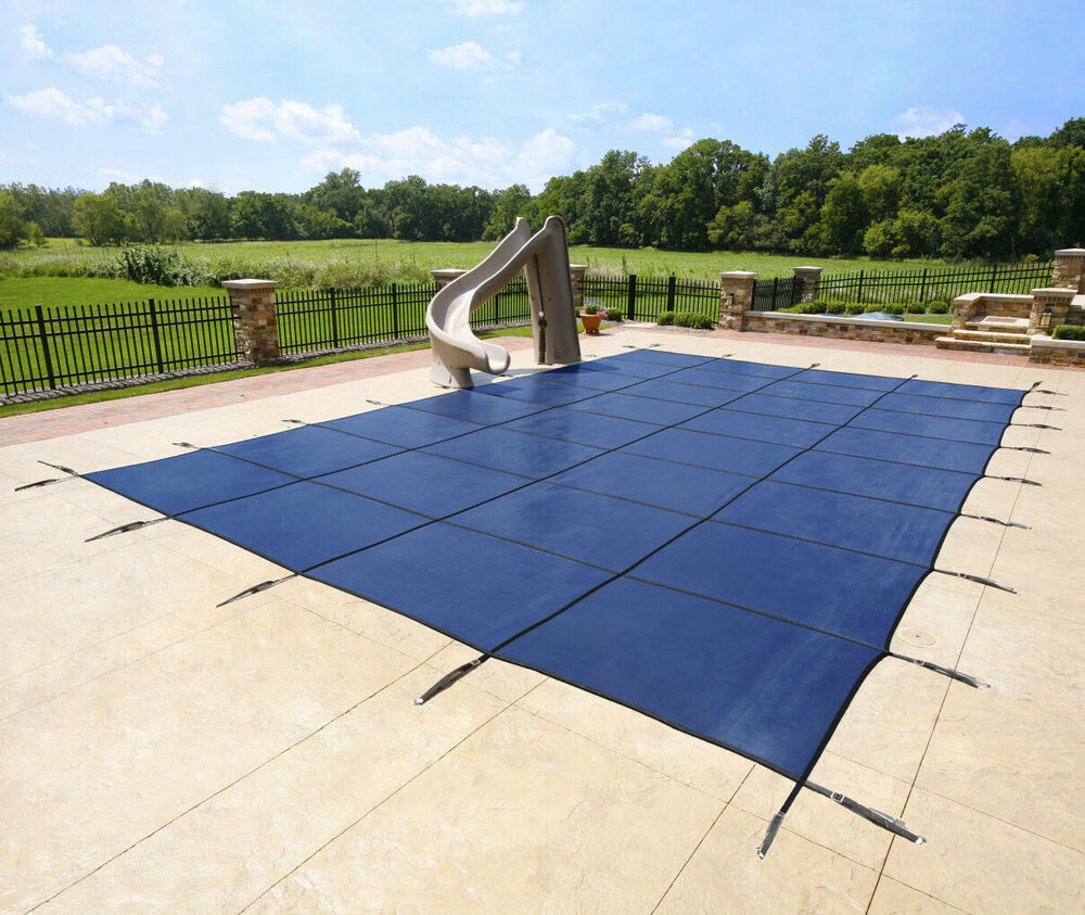 20 X 40 In Ground Pool Blue Super Mesh Winter Cover