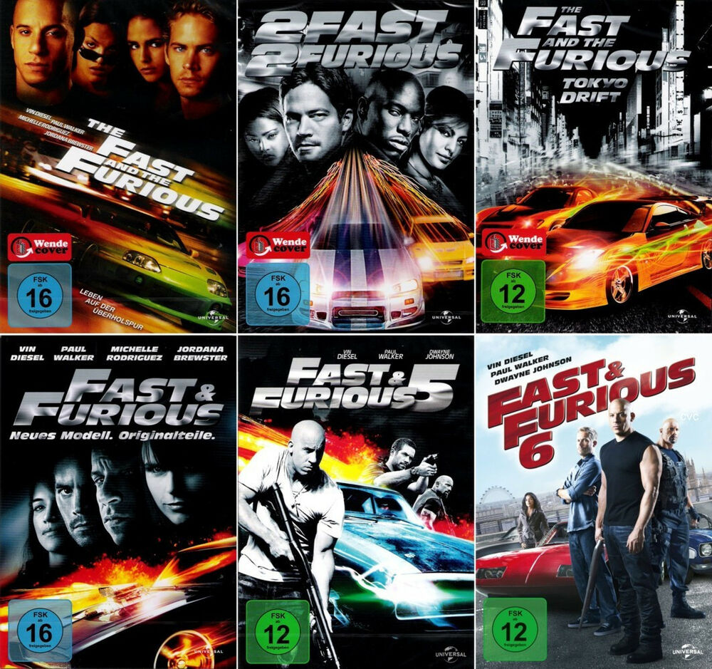 the fast and the furious 1 6 paul walker dvd 500. Black Bedroom Furniture Sets. Home Design Ideas