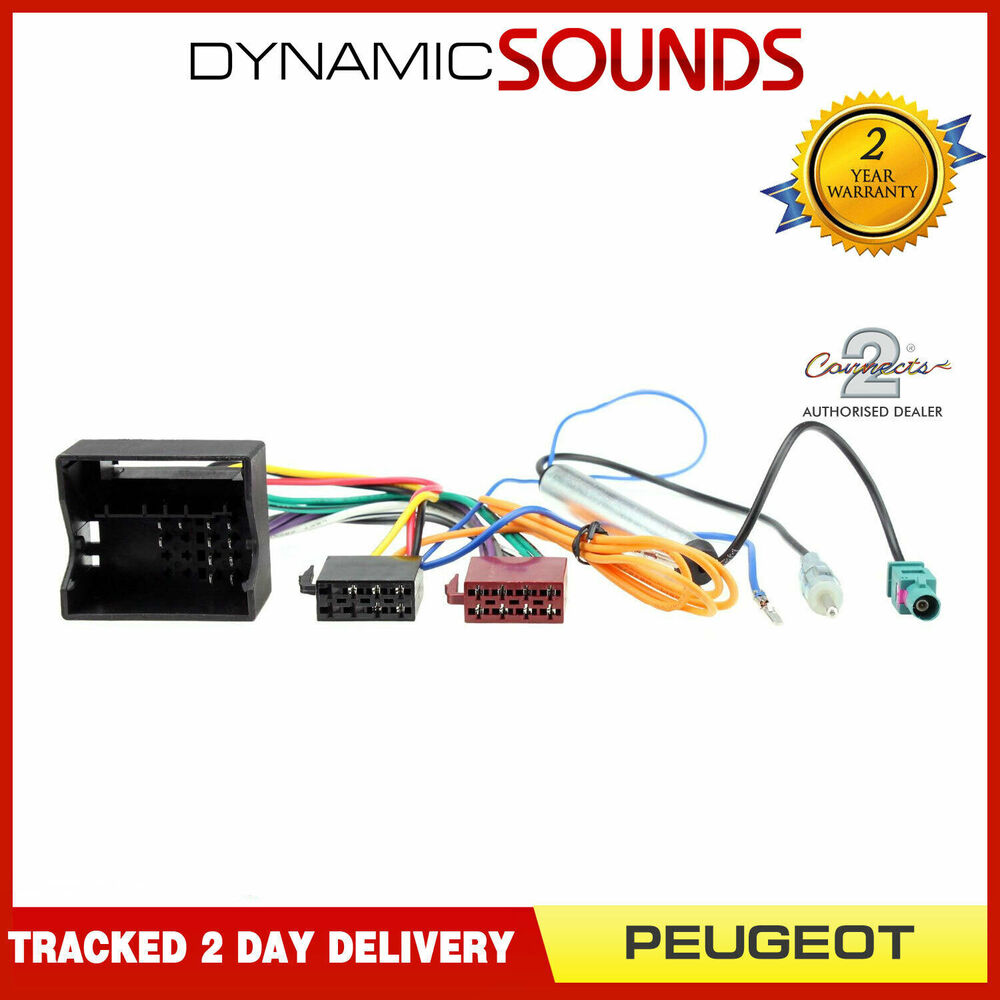 Peugeot Wiring Harness Ct20pe03 Adaptor Iso Loom Aerial For 207 407 807 3008 Ebay