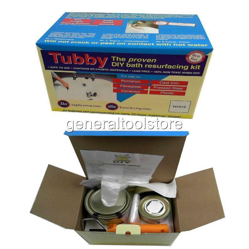 Tubby Diy White Bath Resurfacing Kit Porcelain Castiron