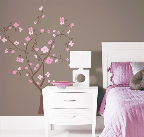 Jp Decor: PINK CHERRY BLOSSOM TREE Wall Stickers Mural Decor NEW