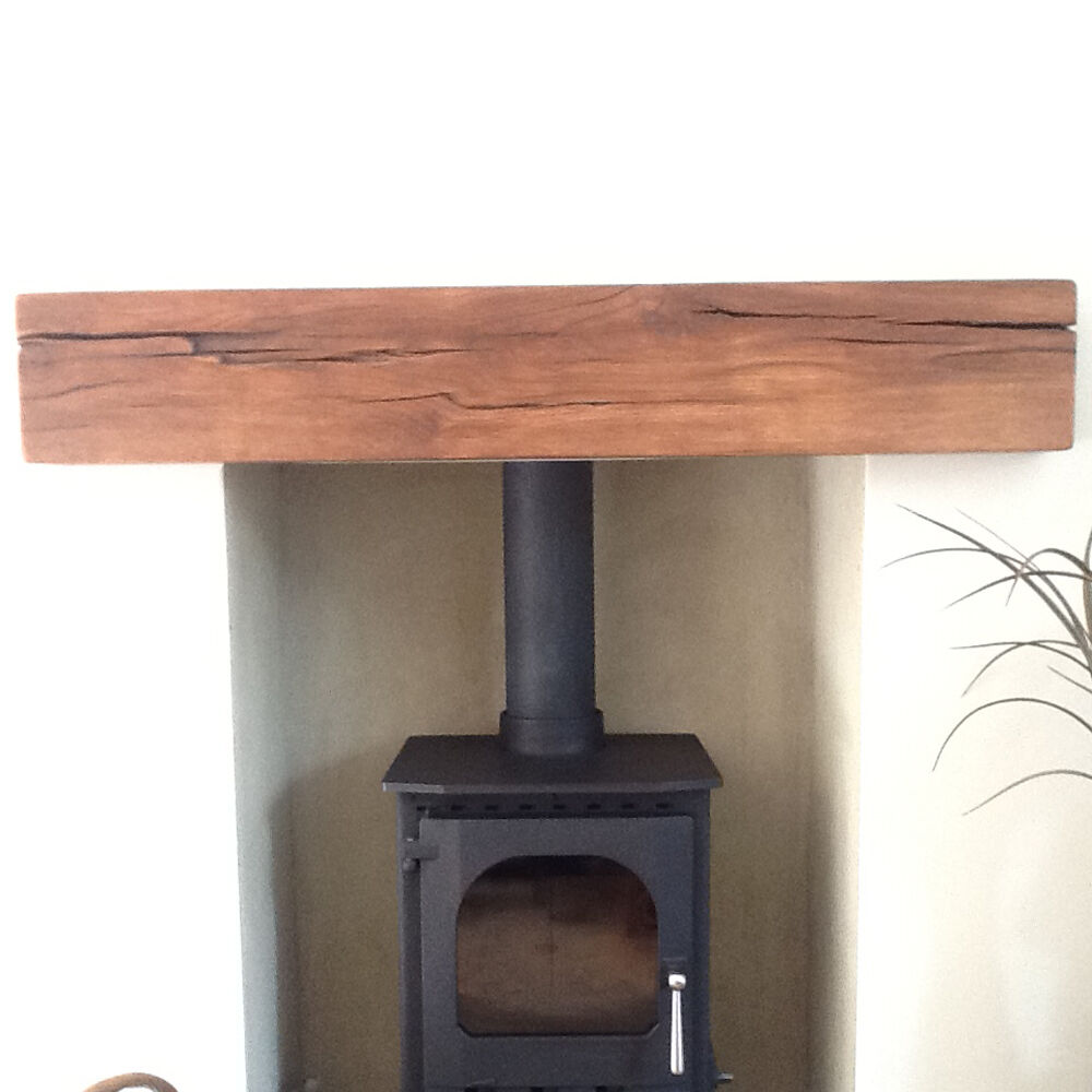 8 X 6 SOLID FRENCH OAK BEAM MANTEL FIRE PLACE SURROUND