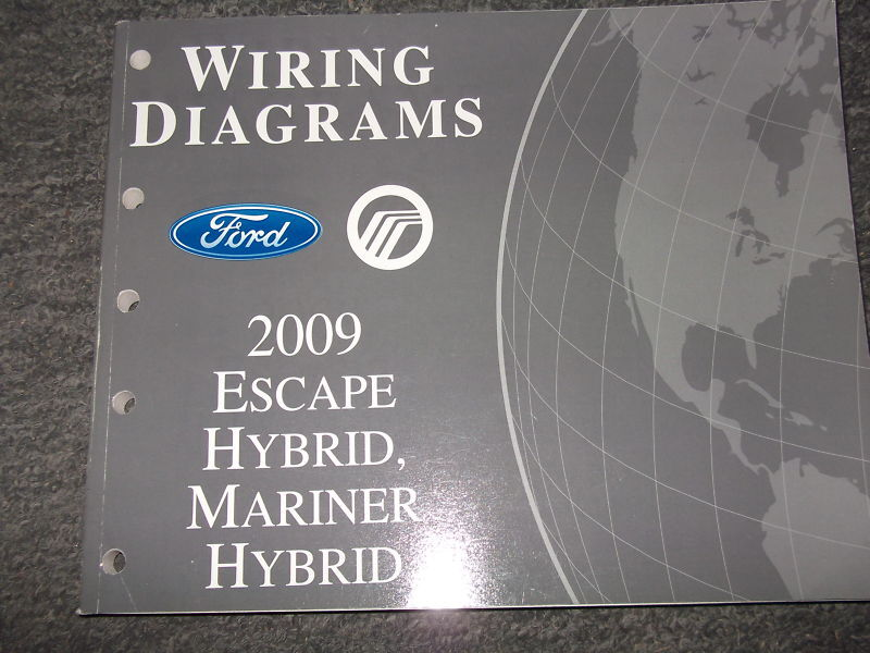2009    Ford       Escape       Hybrid    Mercury Mariner    Hybrid       Electrical    Wiring    Diagram    Manual   eBay