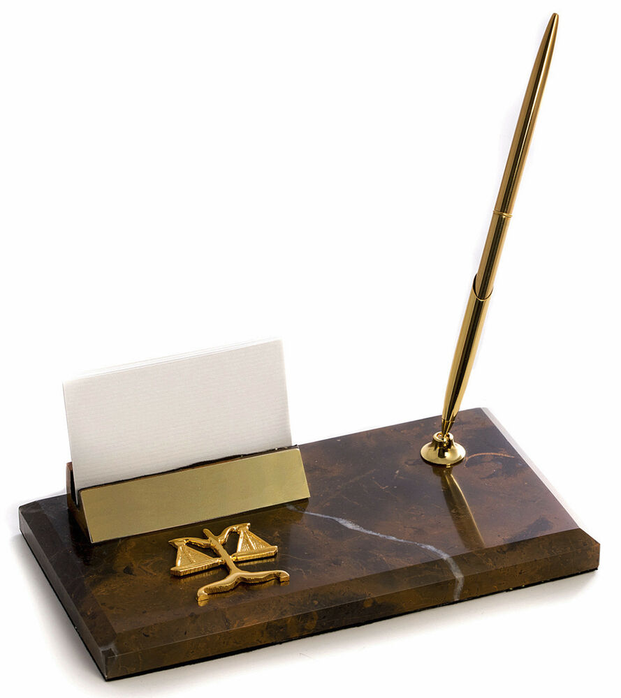DESK ACCESSORIES PEN STAND & BUSINESS CARD HOLDER
