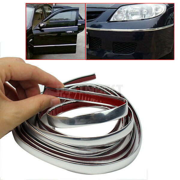 Durable 3m Silver Car Chrome Styling Decoration Moulding