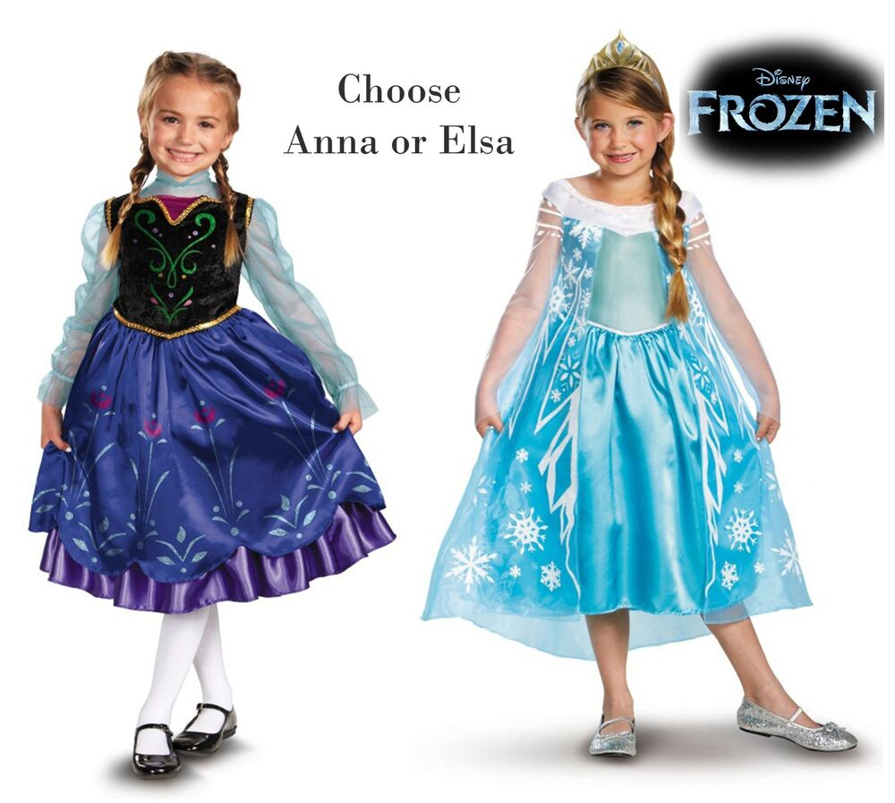Child toddler movie disney pixar frozen princess anna queen elsa dress costume ebay - Frozen anna disney ...