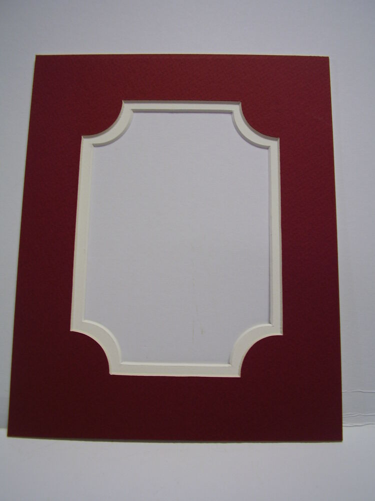 Picture Frame Classic Portrait Mat 11x14 For 8x10 Photo Brick Red With Ivory Ebay