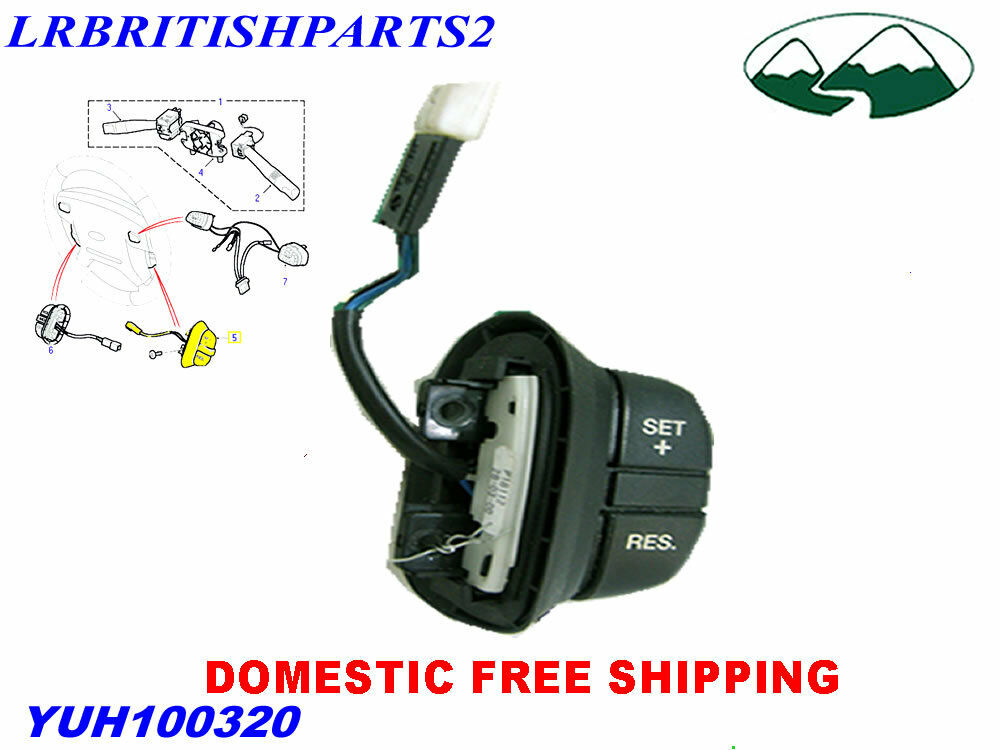 Land Rover Switch Cruise Control Discovery Ii Oem