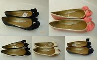 Primark ballerina flats in quilted with cap toe Bow Pumps Ballet Shoes UK 3-8
