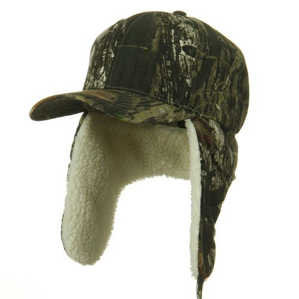 Mossy Oak Fitted Ear Flap Camo Camouflage Hunting Winter ...