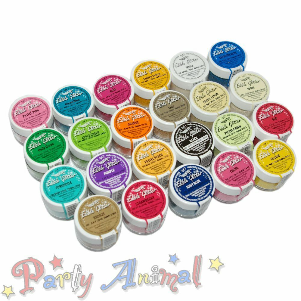 Rainbow dust 100 edible glitter cake decorating for How to make edible cake decorations at home