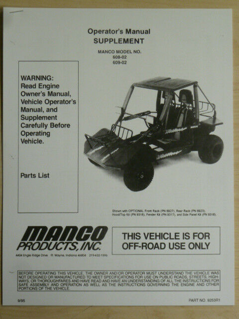 Manco go karts Manual