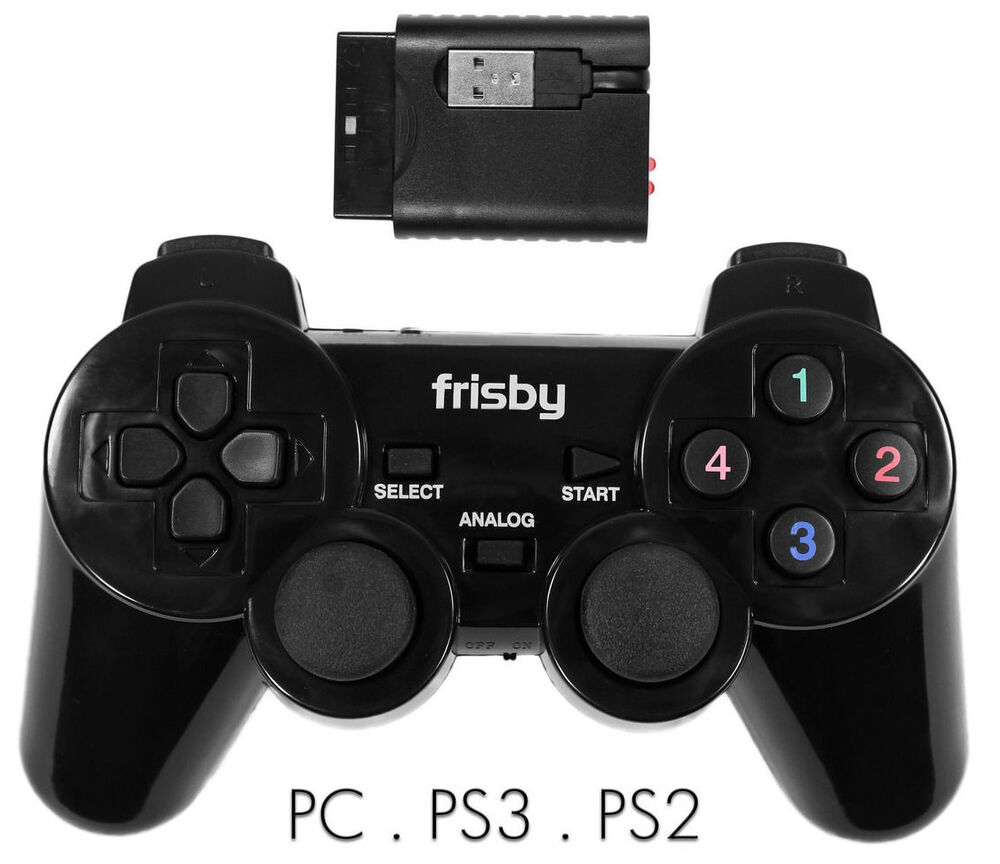 2 4 ghz wireless usb 3 in 1 gaming game controller for ps2. Black Bedroom Furniture Sets. Home Design Ideas