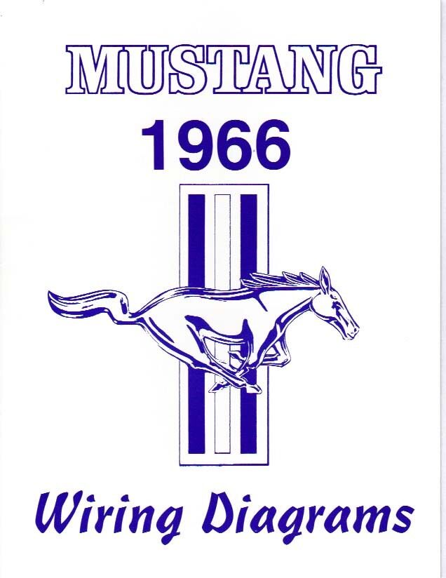 1966 66    MUSTANG    WIRING    DIAGRAM    MANUAL   eBay