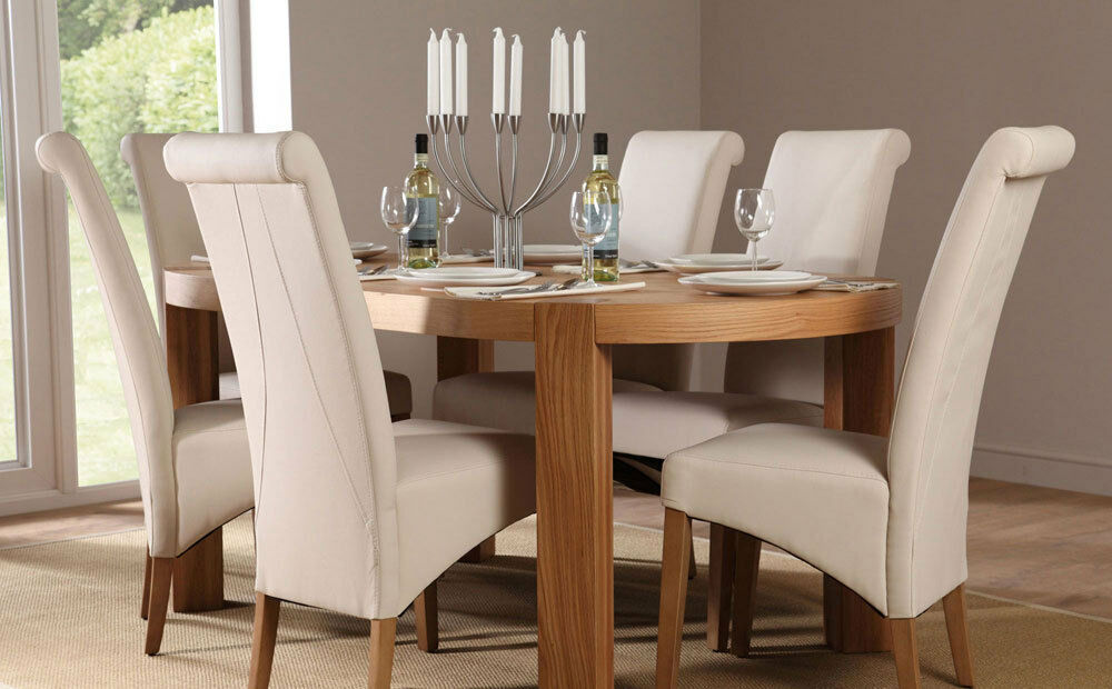 Clifton Richmond Oval Oak Dining Table And 4 6 Leather Chairs Set Crea